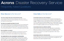 Acronis Disaster Recovery Service Frequently Asked Questions