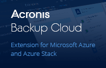 Extension Acronis Backup Cloud pour Microsoft Azure
