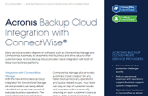 Acronis Backup Cloud Integration with ConnectWise and LabTech