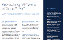 Protecting VMware vCloud Air With Acronis Disaster Recovery Service