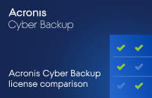 Acronis Cyber Backup License Comparison