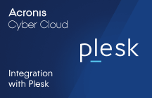 Acronis Cyber Cloud Integration with Plesk