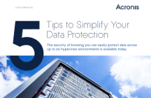 5 Tips to Simplify Your Data Protection