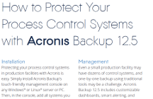 How to Protect Process Control Systems with Acronis Backup 12.5