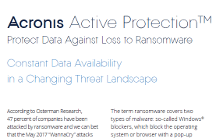Livre blanc Acronis Active Protection