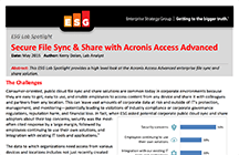 ESG Lab Spotlight - Secure File Sync & Share with Acronis Access Advanced