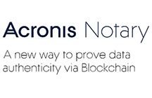 Acronis Notary: a new way to prove data authenticity via Blockchain