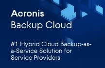 Acronis Backup Cloud Fiches techniques