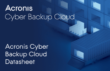 Acronis Cyber Backup Cloud 데이터시트