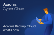 Acronis Backup Cloud What's New