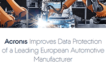 Acronis Improves Data Protection of a Leading European Automotive Manufacturer and Saves Thousands of IT Man-Hours