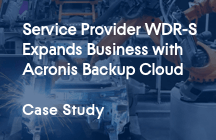 Service Provider WDR-S Expands Business With Acronis Backup Cloud