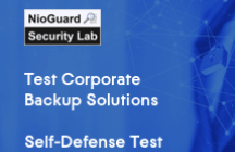 NioGuard Corporate Backup Solutions Self-Defense Test