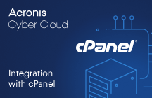Acronis Cyber Cloud Integration with cPanel