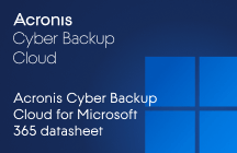 Acronis Backup Cloud for Office 365 Fichas técnicas