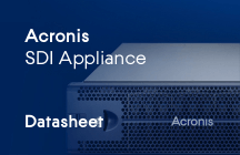Acronis SDI Appliance Datenblätter
