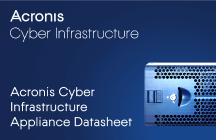 Acronis Cyber Infrastructure Appliance Datasheet
