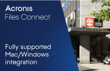 Swedish publisher fully support Mac/Windows integration with Acronis