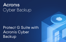 Protect G Suite with Acronis Cyber Backup