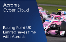 Racing Point UK Limited saves 156 hours each year partnering with Acronis
