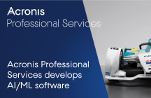 Acronis Professional Services develops AI/ML software for enhanced sensor failure detection, video analytics, and real-time strategy tools