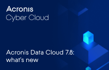 Acronis Data Cloud 7.8 - Novità