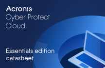 Acronis Cyber Protect Cloud Essentials Edition Scheda Informativa