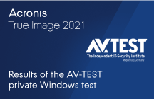 Acronis True Image 2021: Results of the AV-TEST Private Windows Test