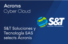 S&T Soluciones y Tecnología SAS Selects Acronis Cyber Cloud an Integrated Backup and Cybersecurity Solution