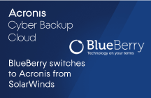 BlueBerry switches to Acronis Cyber Backup Cloud from SolarWinds Managed Backup and StorageCraft ShadowProtect
