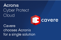 Cavere chooses Acronis Cyber Protect Cloud for a single solution to provide its customers with backup and cybersecurity
