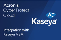 Acronis Cyber Protect Cloud Integration with Kaseya VSA