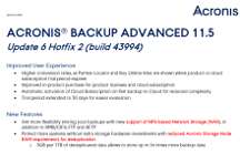 Acronis Backup Advanced 11.5 Update 6 - What's New