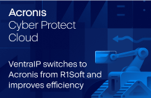 VentraIP switches to Acronis Cyber Protect Cloud from R1Soft and vastly improves operational efficiency
