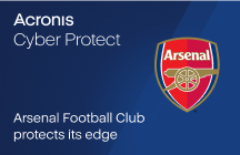 Arsenal Football Club protects its edge with Acronis Cyber Protect
