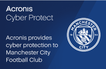Acronis provides cyber protection to Manchester City Football Club