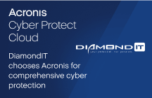 DiamondIT chooses Acronis for comprehensive cyber protection, not just backup and disaster recovery