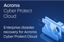 Enterprise Disaster Recovery for Acronis Cyber Protect Cloud