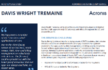 Acronis Disaster Recovery Service Case Study: Davis Wright Tremaine