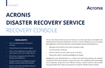 Acronis Disaster Recovery Service Recovery Console