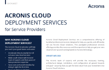 Acronis Cloud Deployment Services