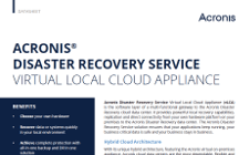 Acronis Disaster Recovery Service Virtual Local Cloud Appliance