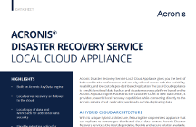 Acronis Disaster Recovery Service Local Cloud Appliance