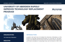 Acronis Snap Deploy Case Study: University of Aberdeen