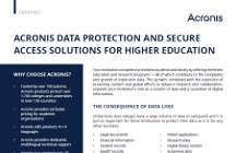 Acronis Data Protection and Secure Access Solutions for Higher Education